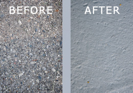 Before and After Sealcoating
